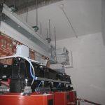 Sistem industrijskih zbiralk, povezava na transformator